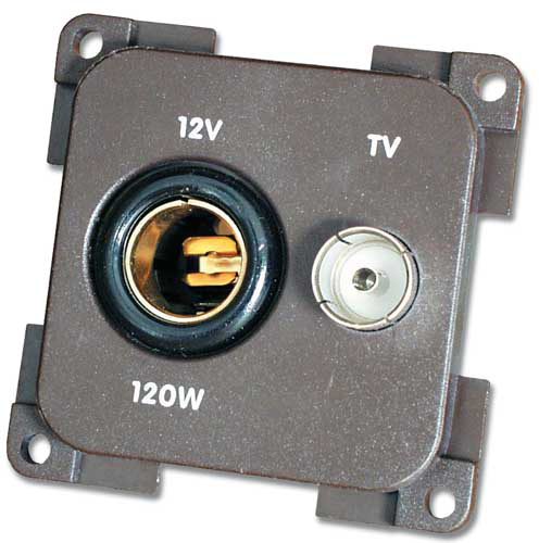 Immagine Presa 12V. + TV (TV 9,5 75 Ohm)